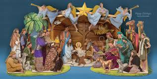 nativity cards lights card and decore