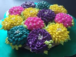diy pull apart cupcake flower bouquet tutorial youtube
