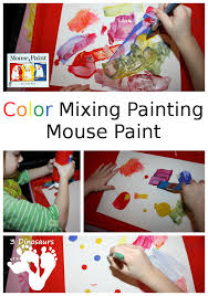 color mixing painting u2013 mouse paint 3 dinosaurs