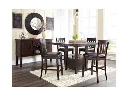 Dining Room Set With Royal Chairs Signature Design By Ashley Haddigan 5 Piece Dining Room Counter