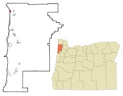 Oregon Coastline Map by Manzanita Oregon Wikipedia