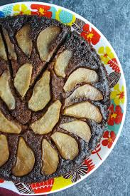 spiced pear u0026 molasses upside down cake