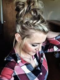 easy hairstyles for waitress s 5 minute hair working moms fishtail braid bun easy hairstyle