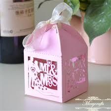 ribbon with names mr mrs unique design laser cut custom names wedding favor boxes