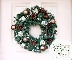 diy wreaths simple diy christmas wreath tutorial of family home