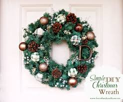 simple diy christmas wreath tutorial love of family u0026 home