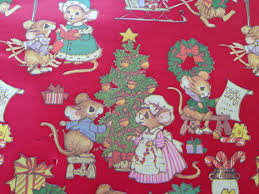 country christmas wrapping paper vintage christmas wrapping paper juvenile gift wrap country