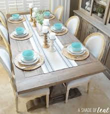 aqua dining room modern rustic dining table update with urban home