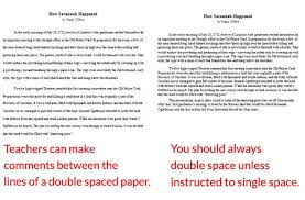 should an application essay be single or double spaced