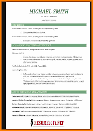 Sample Professional Resume Format Resume Template 2017 by Chronological Resume Format Chronological Resume Template