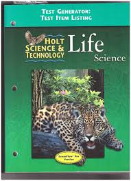 test generator test item listing holt science u0026technology life