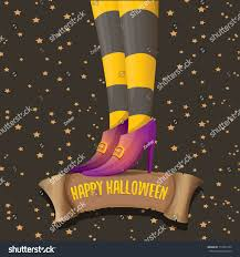 vector halloween party poster witch legs stock vector 712954132