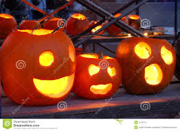 carved lighted pumpkins stock photos image 6779373