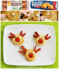 rudolph red nose reindeer dogs christmas kitchen