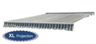 Electric Awning 3 0m Half Cassette Electric Awning Multi Stripe 4 0m Projection