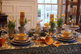 Beautiful Place Settings Harbingers Of Spring Tablescape Stonegable