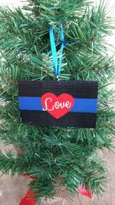 thin blue line ornament thin line by idahoembroidery