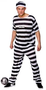 halloween costume robber prison break convict costume stag party costumes mega fancy dress
