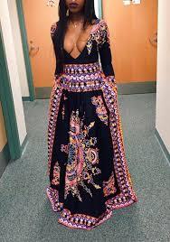 tribal dress tribal floral patterns print boho style dress maxi