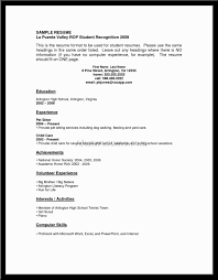 Example Of Good Resumes by Format Of Good Resume