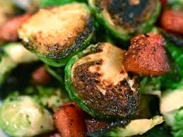 seared brussels sprouts with bacon lardons recipe serious eats