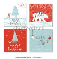 christmas gift cards tags lettering hand stock vector 717141406