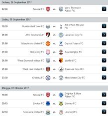 Jadwal Liga Inggris Jadwal Hasil Klasemen Liga Inggris Terupdate 2017 2018 Lalalinds