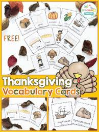 thanksgiving vocabulary cards freebie by teaching talking tpt