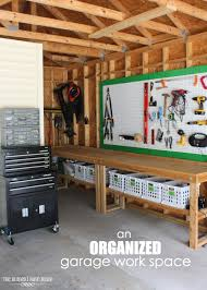 an organized garage work space the homes i have made