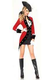 Halloween Army Costumes Womens Red Black 4 Piece Rebel Red Coat Costume Army Costume Army