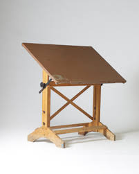 Wood Drafting Table Flux Small Vintage Wooden Drafting Table