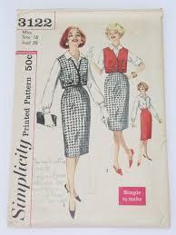 womens vintage 50s simplicity patterns at rustyzipper com vintage