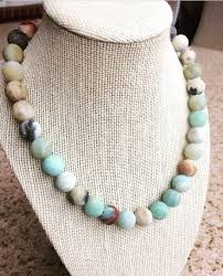 round beads necklace images 8mm matte amazonite necklace naturel stone round beads necklaces jpg