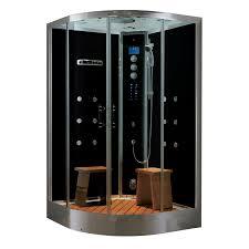 shop northeastern bath black tempered glass wall acrylic floor