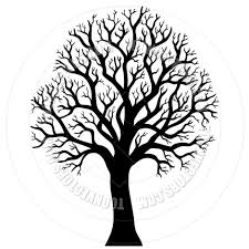cartoon silhouette of tree without leaves by clairev toon