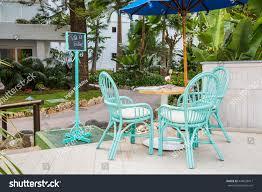 Outdoor Furniture In Spain - beautiful open terrace garden spain marbella stock photo 444538411