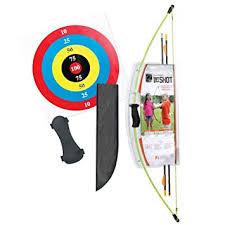 backyard archery set amazon com bear archery 1st shot youth bow set flo green