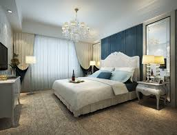 amusing blue bedroom decor and light accessories luxurious