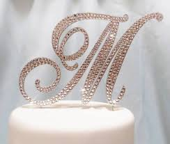 wedding cake toppers letters 5 beautiful monogram wedding cake toppers wedding fanatic