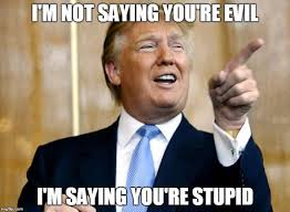 You Re Stupid Meme - 45 very funny donald trump meme images and photos of all the time