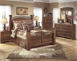 Light Wood Bedroom Sets Signature Design By Ashley Timberline Queen Poster Bed Wayside