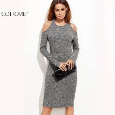 grey bodycon dress aliexpress buy colrovie dress bodycon dress