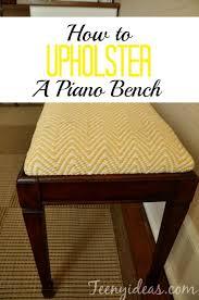 Piano Bench Pad How To Upholster A Piano Bench Tutorial Teeny Ideas