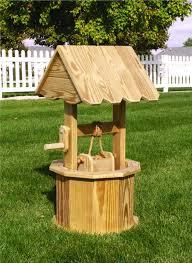 wooden wishing well whimsical garden attribute landscape design