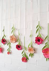 hanging flowers set of 10 handmade hanging paper flowers by may contain glitter