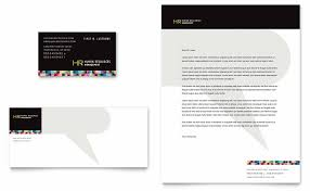 human resource management business card u0026 letterhead template