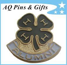 alumni pin china 4h clover 3d metal pin badge for alumni pin in soft enamel
