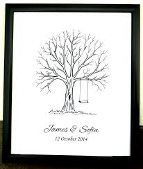 baby shower fingerprint tree jpeg digital file personalised fingerprint tree guest book wedding