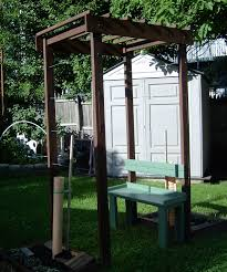 diy trellis arbor grape arbor with bench for a small space 9 steps
