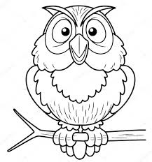 cartoon owl sitting on tree branch u2014 stock vector sararoom 28934729
